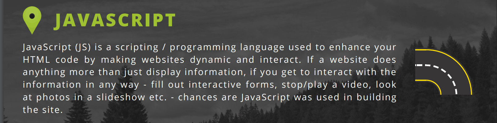JS excerpt from roadmap